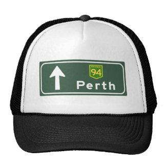 Perth, Australia Road Sign Trucker Hat