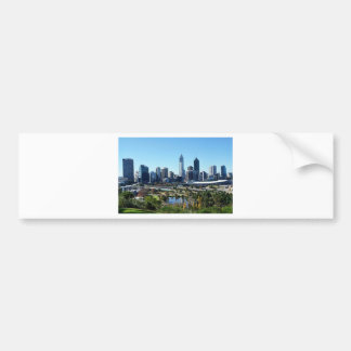 Perth Australia Skyline Bumper Sticker