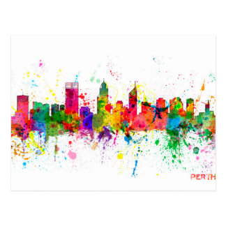 Perth Australia Skyline Postcard