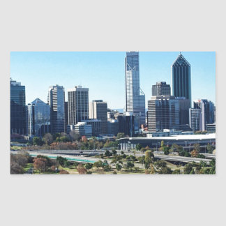 Perth Australia Skyline Rectangular Sticker