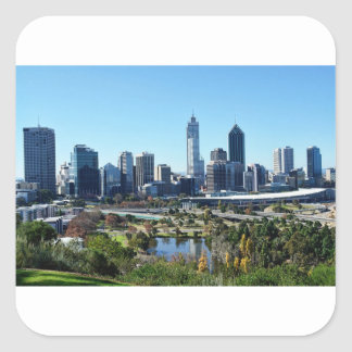 Perth Australia Skyline Square Sticker