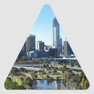 Perth Australia Skyline Triangle Sticker