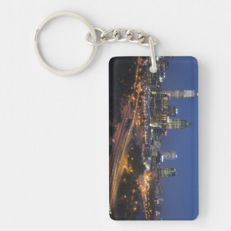 Perth, Australia. View of downtown Perth from Double-Sided Rectangular Acrylic Key Ring