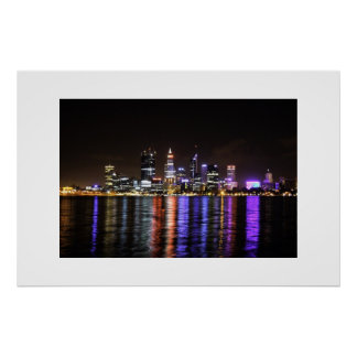 Perth CBD by Night Poster