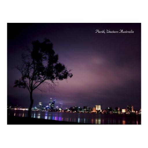 Perth City Lights Post Card