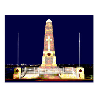 Perth Memorial By Night Postcard