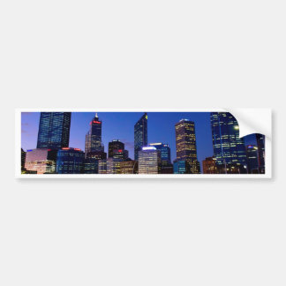 Perth Night Skyline Bumper Sticker