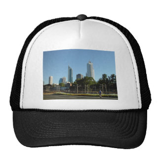 Perth Skyline From Northbridge In Late Afternoon Mesh Hat