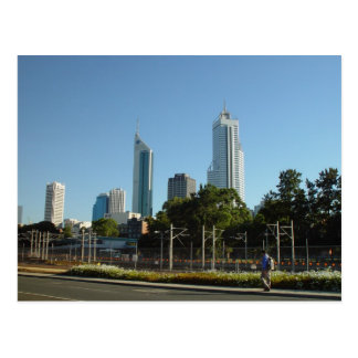 Perth Skyline From Northbridge In Late Afternoon Postcard