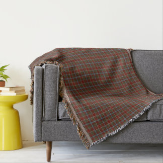 Perthshire Scotland District Weathered Tartan Throw Blanket