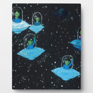 Perturbed Martians and some Cows Photo Plaques