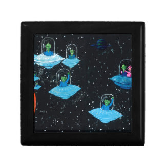 Perturbed Martians and some Cows Small Square Gift Box