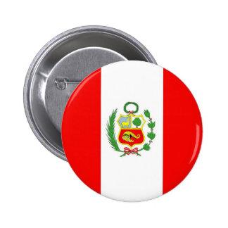 Peru 6 Cm Round Badge