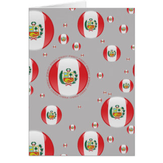 Peru Bubble Flag Cards