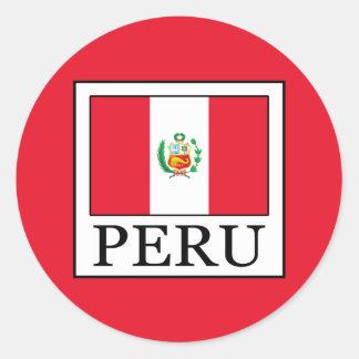 Peru Classic Round Sticker