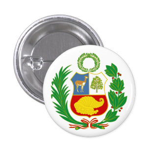 Peru Coat of Arms Button