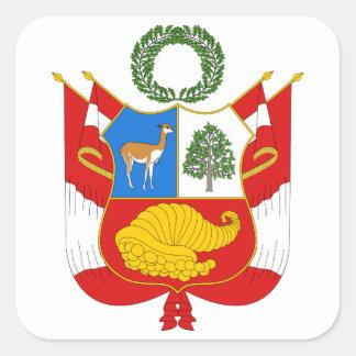 Peru Coat of Arms Square Sticker