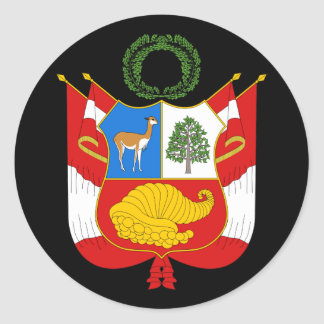 Peru Coat of Arms Sticker