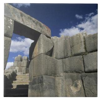 Peru, Cuzco, Sacsayhuaman fortress, good example Large Square Tile