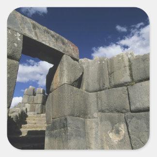 Peru, Cuzco, Sacsayhuaman fortress, good example Square Sticker