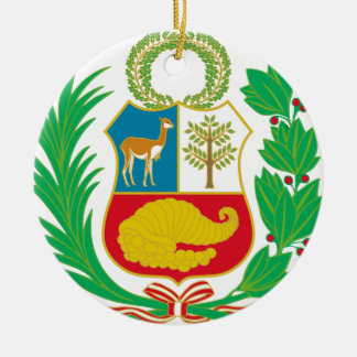 Peru - Escudo Nacional (National Emblem) Ceramic Ornament