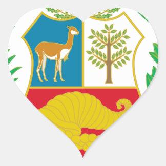 Peru - Escudo Nacional (National Emblem) Heart Sticker