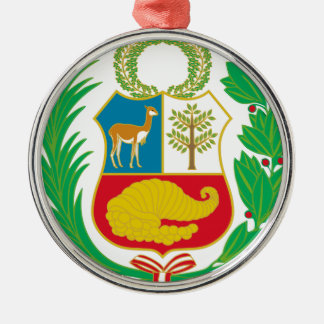 Peru - Escudo Nacional (National Emblem) Metal Ornament