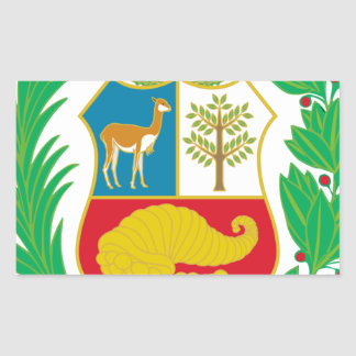 Peru - Escudo Nacional (National Emblem) Rectangular Sticker