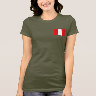 Peru Flag and Map dk T-Shirt