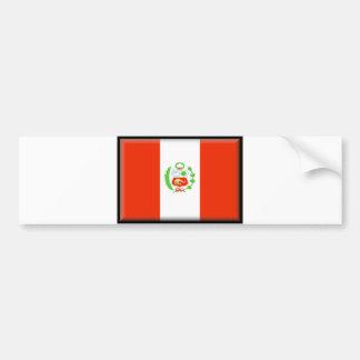 Peru Flag Bumper Sticker