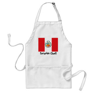Peru flag chef apron