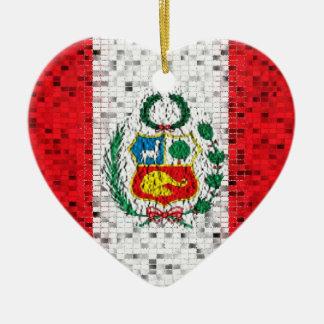 Peru Flag glitter ornament
