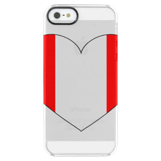 Peru Flag Heart Clear iPhone SE/5/5s Case