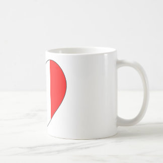 Peru Flag Heart Coffee Mug