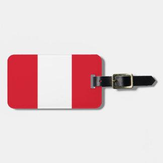Peru Flag Luggage Tag