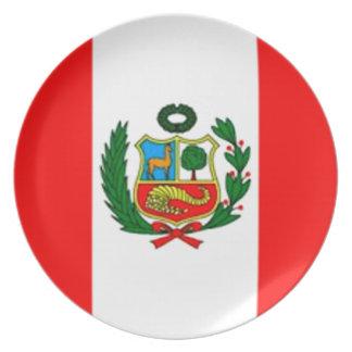 Peru Flag Plate