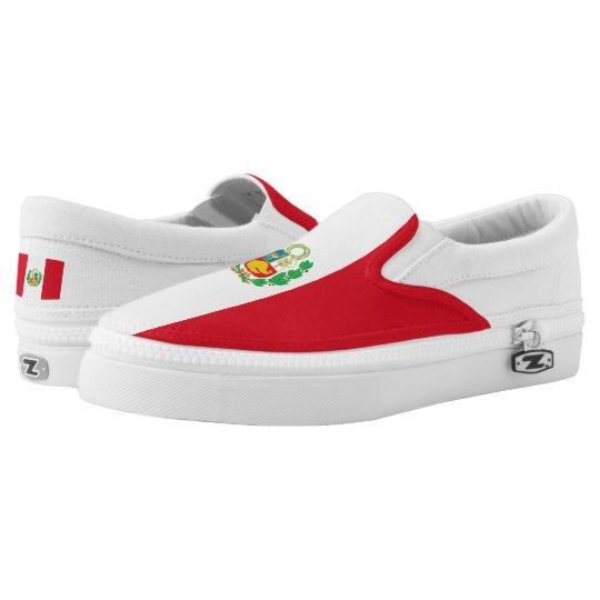 Peru Flag Printed Shoes