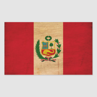 Peru Flag Rectangular Sticker