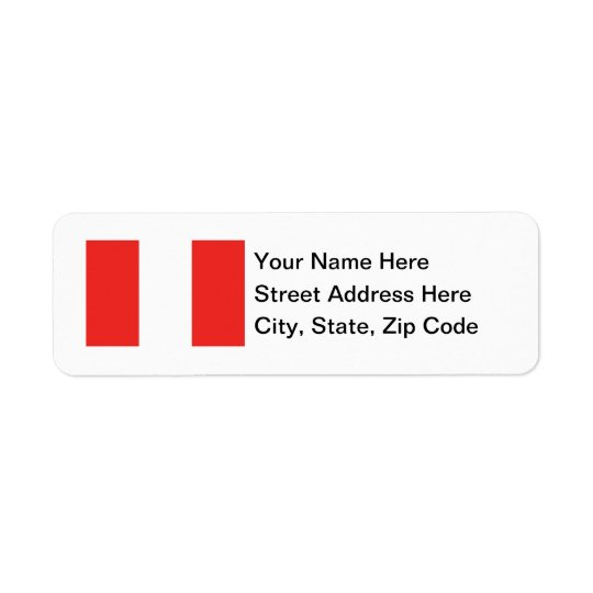 Peru Flag Return Address Label