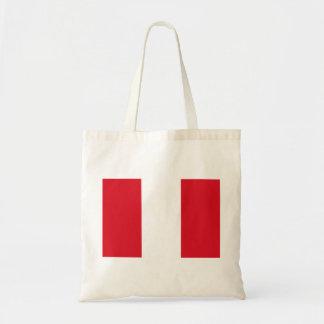Peru Flag Tote Bag