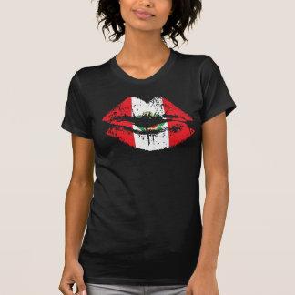 Peru lips tshirt design for women.