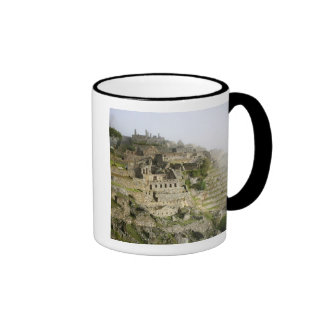 Peru, Machu Picchu. The ancient citadel of Machu Ringer Mug