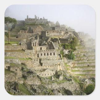 Peru, Machu Picchu. The ancient citadel of Machu Square Sticker