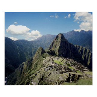 Peru, Machu Picchu, the ancient lost city of 2 Poster