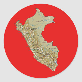 Peru Map Sticker