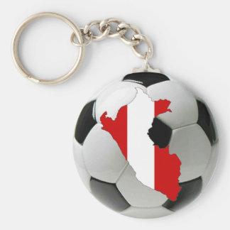 Peru national team basic round button key ring