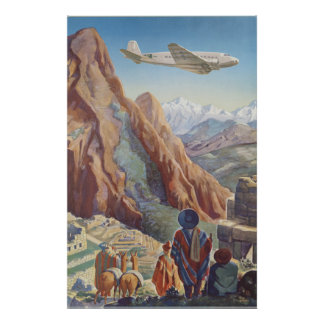 Peru Of The Incas Vintage Travel Poster