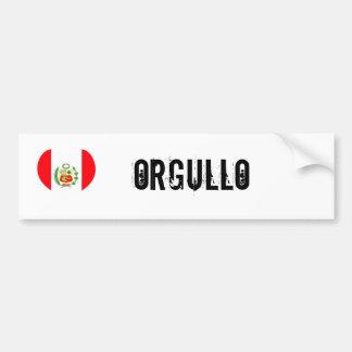 Peru orgullo (pride) bumper sticker
