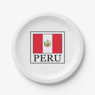 Peru Paper Plate