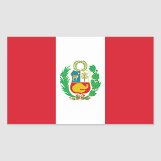 Peru/Peruvian Flag Rectangular Sticker